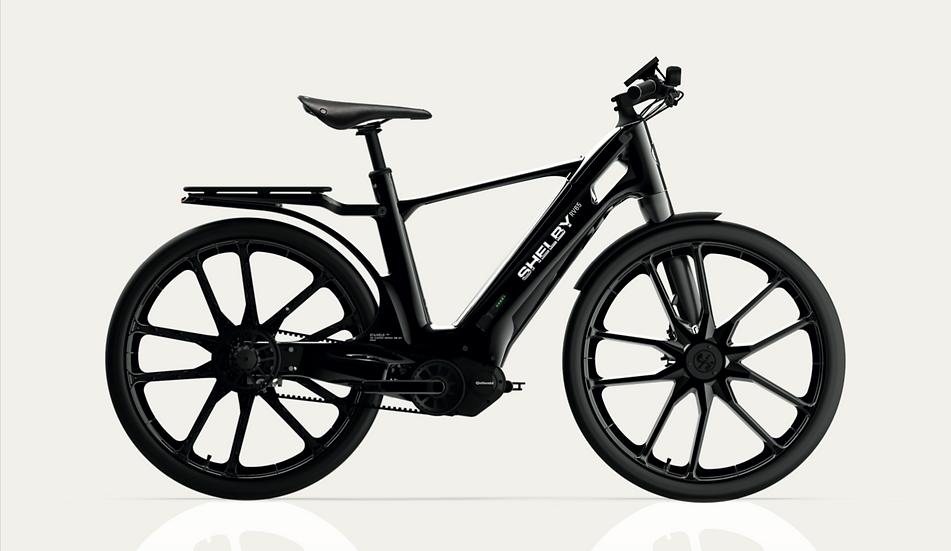 Shelby E-Bike Shadow Black with Grey Stripes