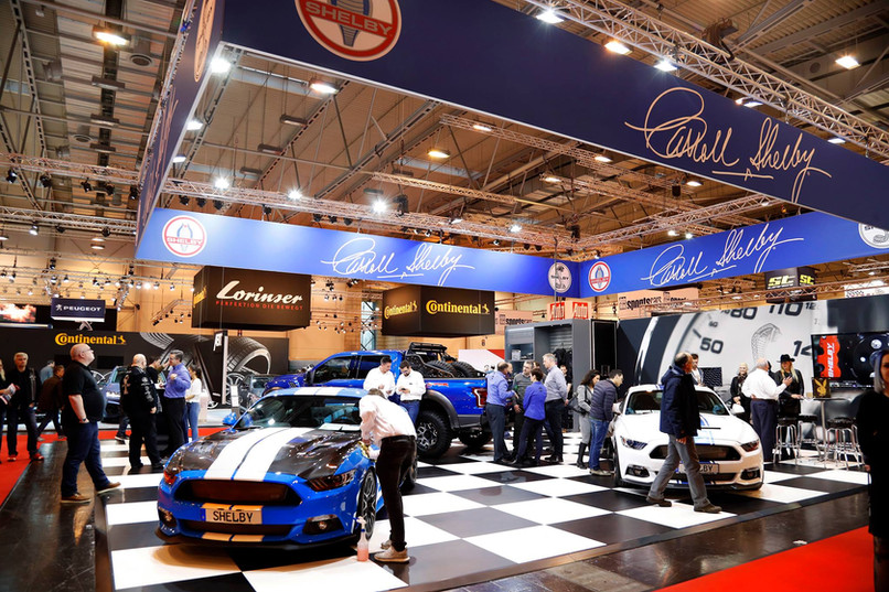 Shelby Europe booth at the 2017 Essen Motor Show
