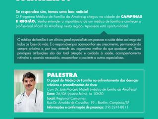 Palestra em Campinas com Dr José Marcelo Morelli aborda tema médico de família