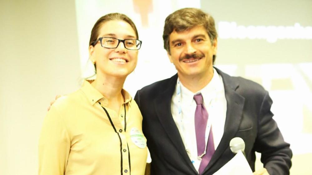 Dra Marina Pontello Castelli do Hospital do Rim e Hipertensão e o presidente do Instituto do Rim em Campinas, José Marcelo Morelli