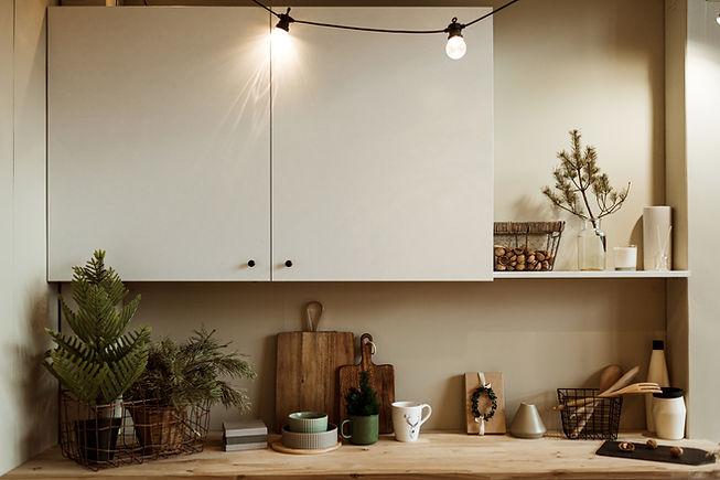 Modern home kitchen interior concept. Fi