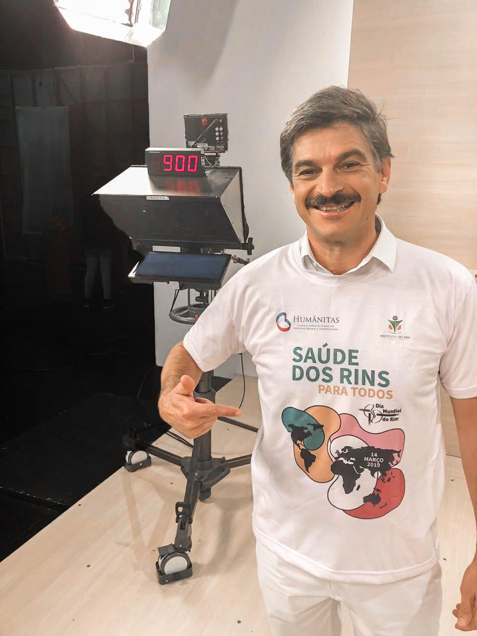 Camiseta para campanha do Dia Mundial dos Rins