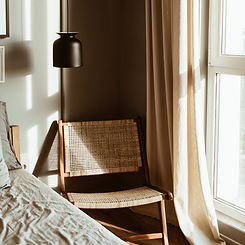 Modern stylish bedroom interior design c