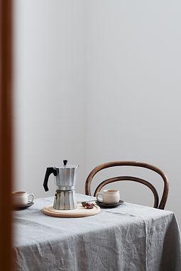 Coffee table for two. Nordic minimalisti