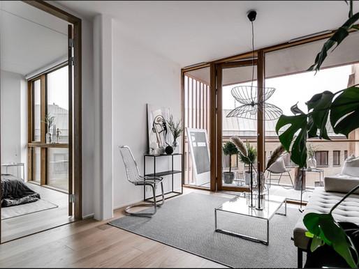 Maja Persson jobbar med homestyling i Stockholm