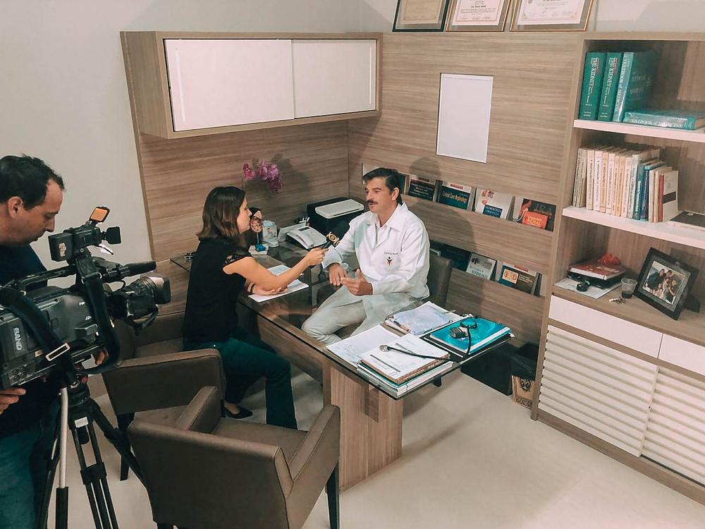 Médico-nefrologista Dr. Marcelo Morelli em entrevista para Band Campinas