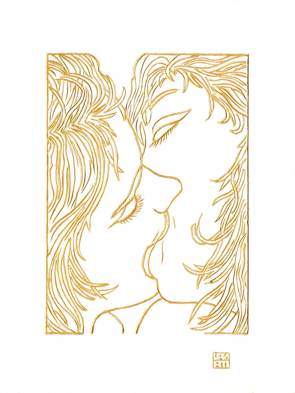bacio tra amiche