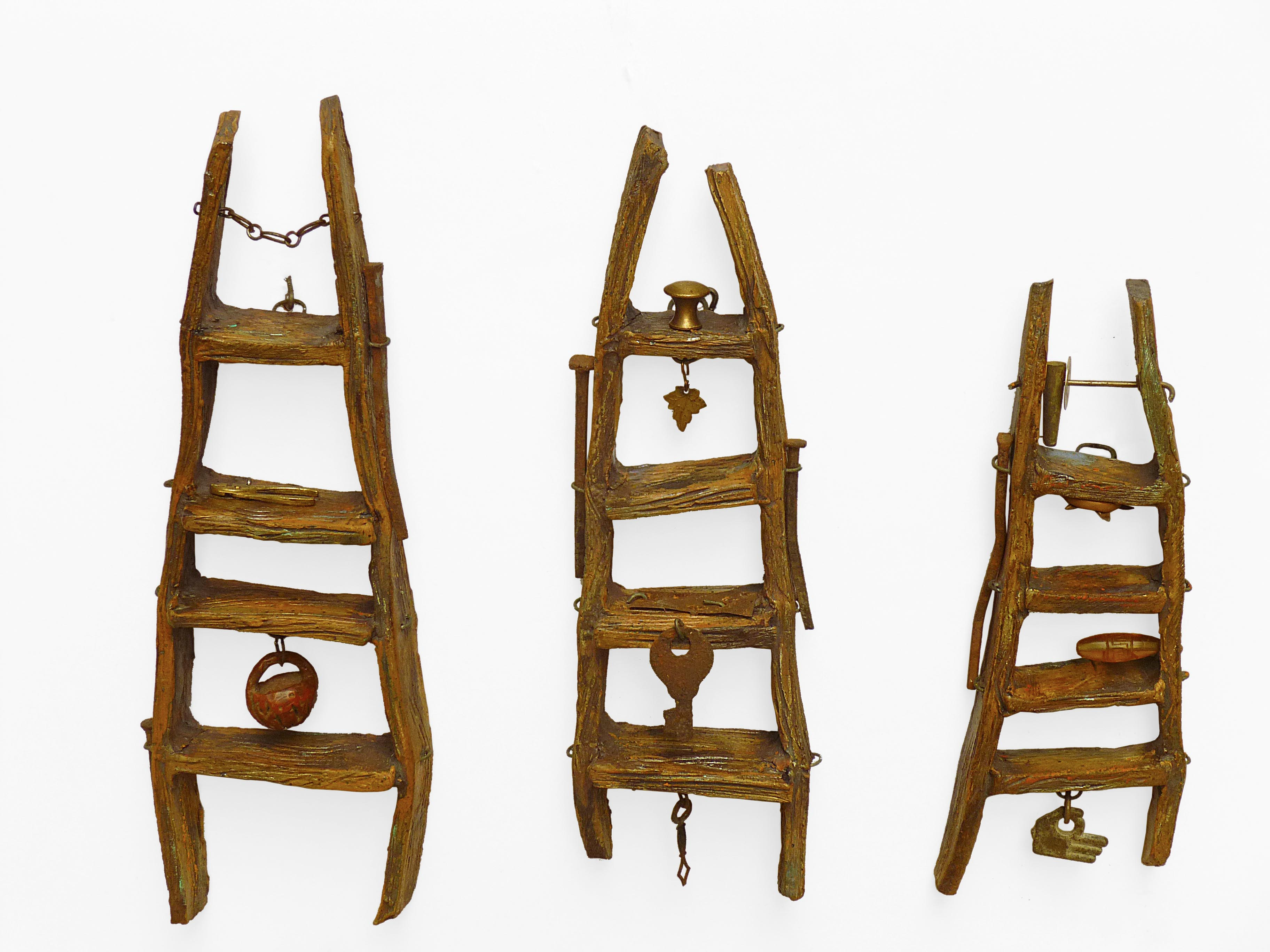 Ceramic Ladders w/Found Objects