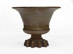 Vase with Vintage Gear Base