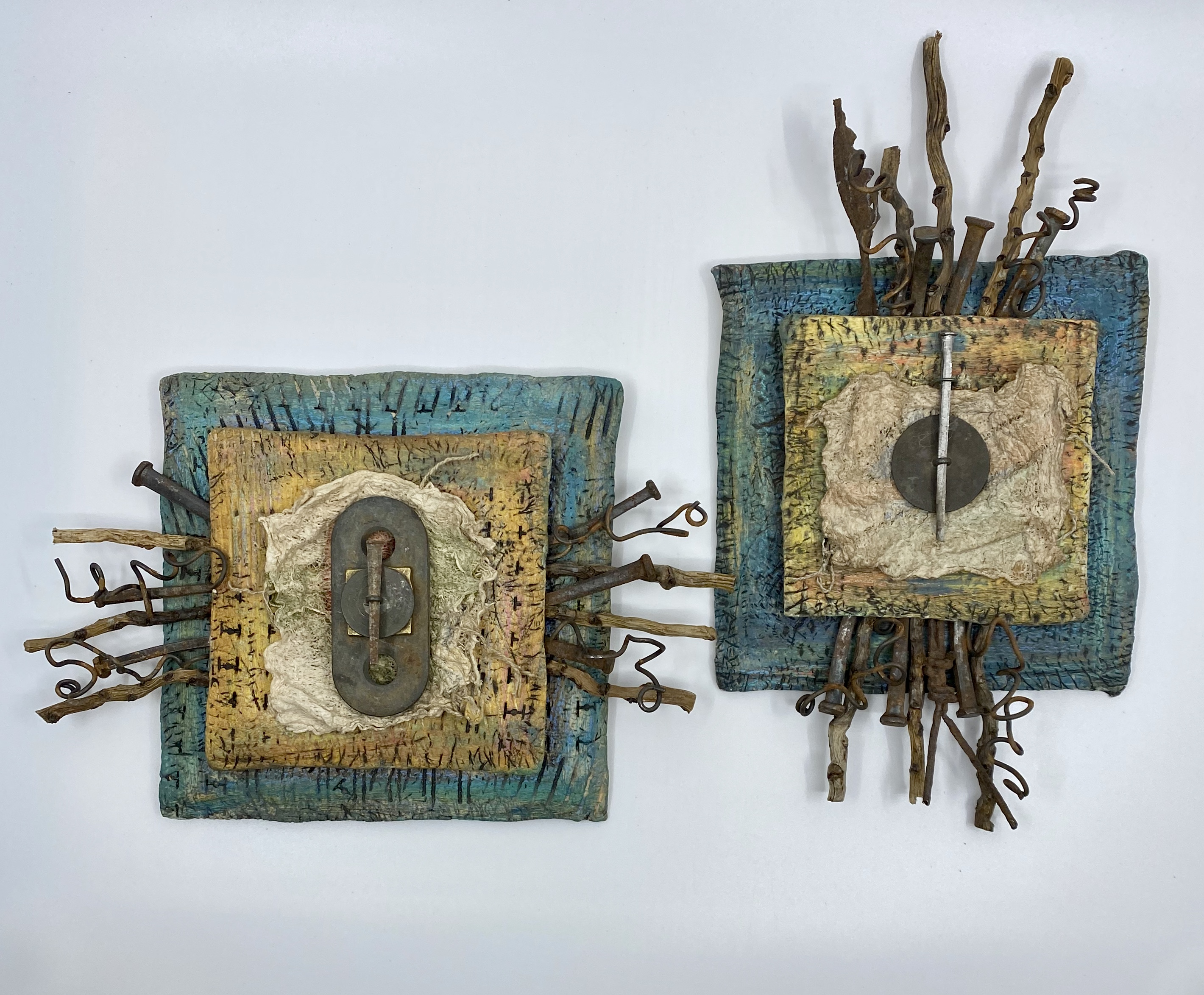 Wall Pieces with Found Objects