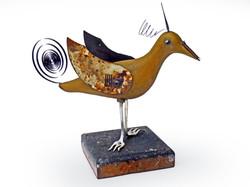 Taking Off Bird - Ceramic/Found Objects