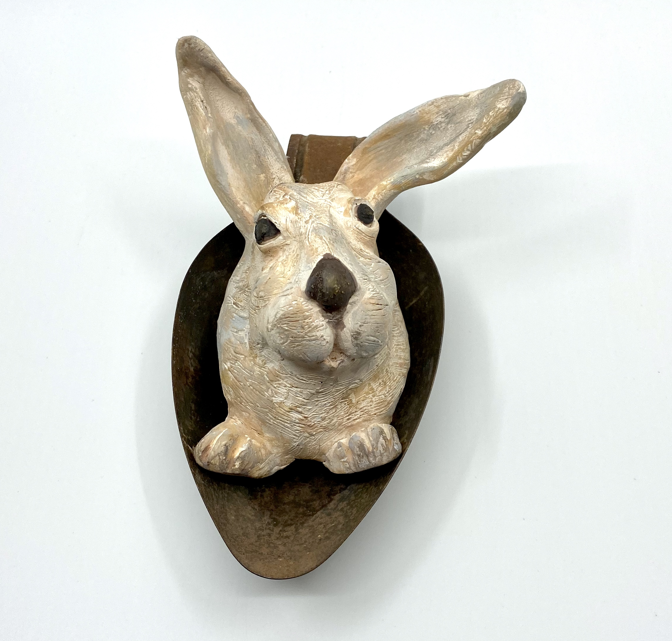 Curious Rabbit - Ceramic/Found Objects