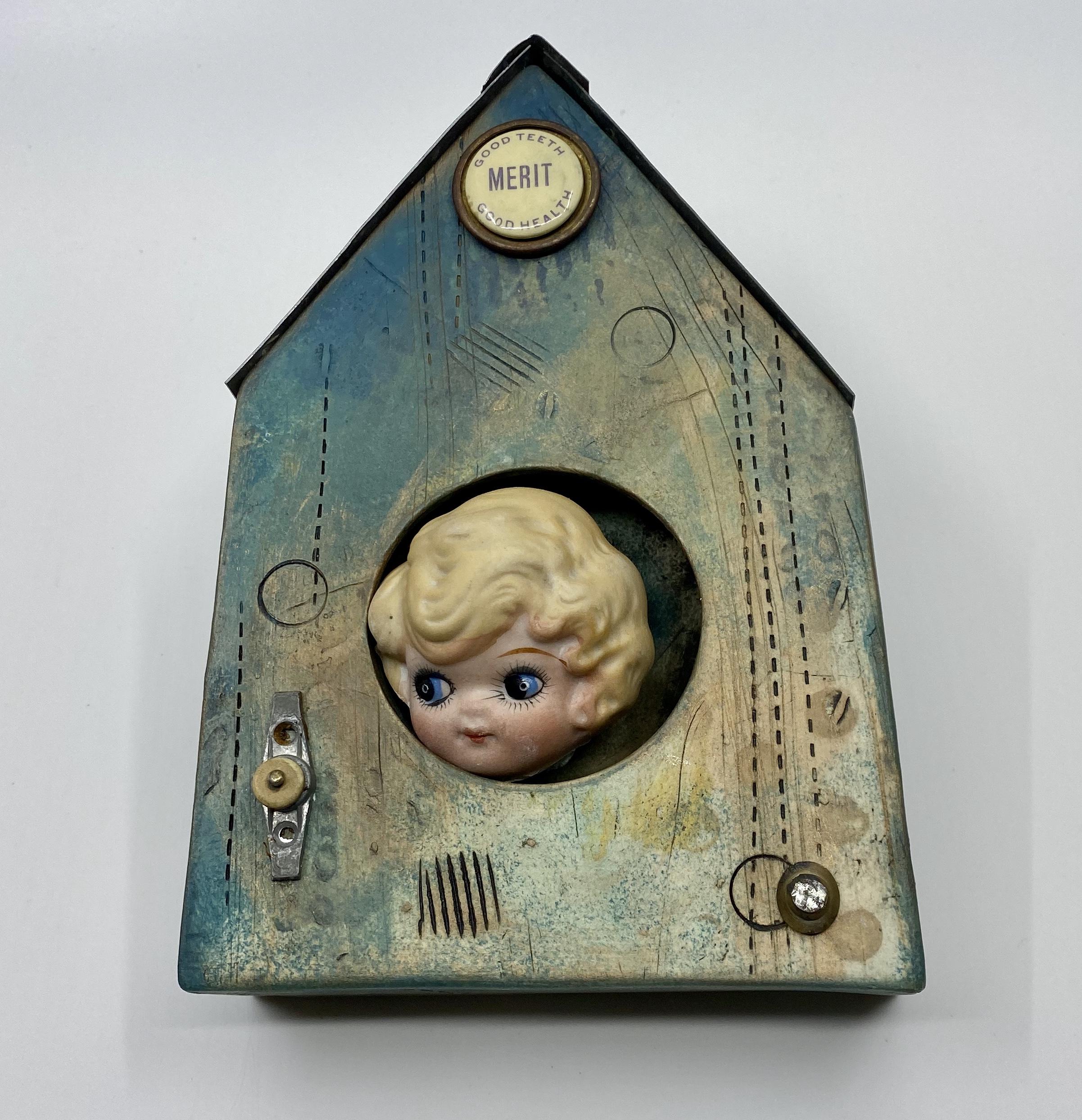 Curiosity has Merit- Ceramic/Found Objec