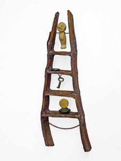 Ceramic Ladder with Found Objects