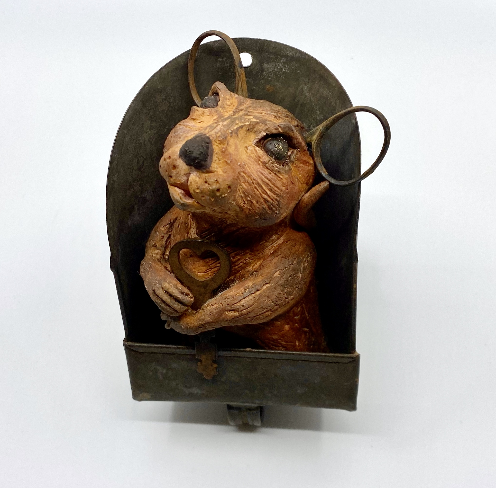 A Mouse in the House - Ceramic/Found Obj