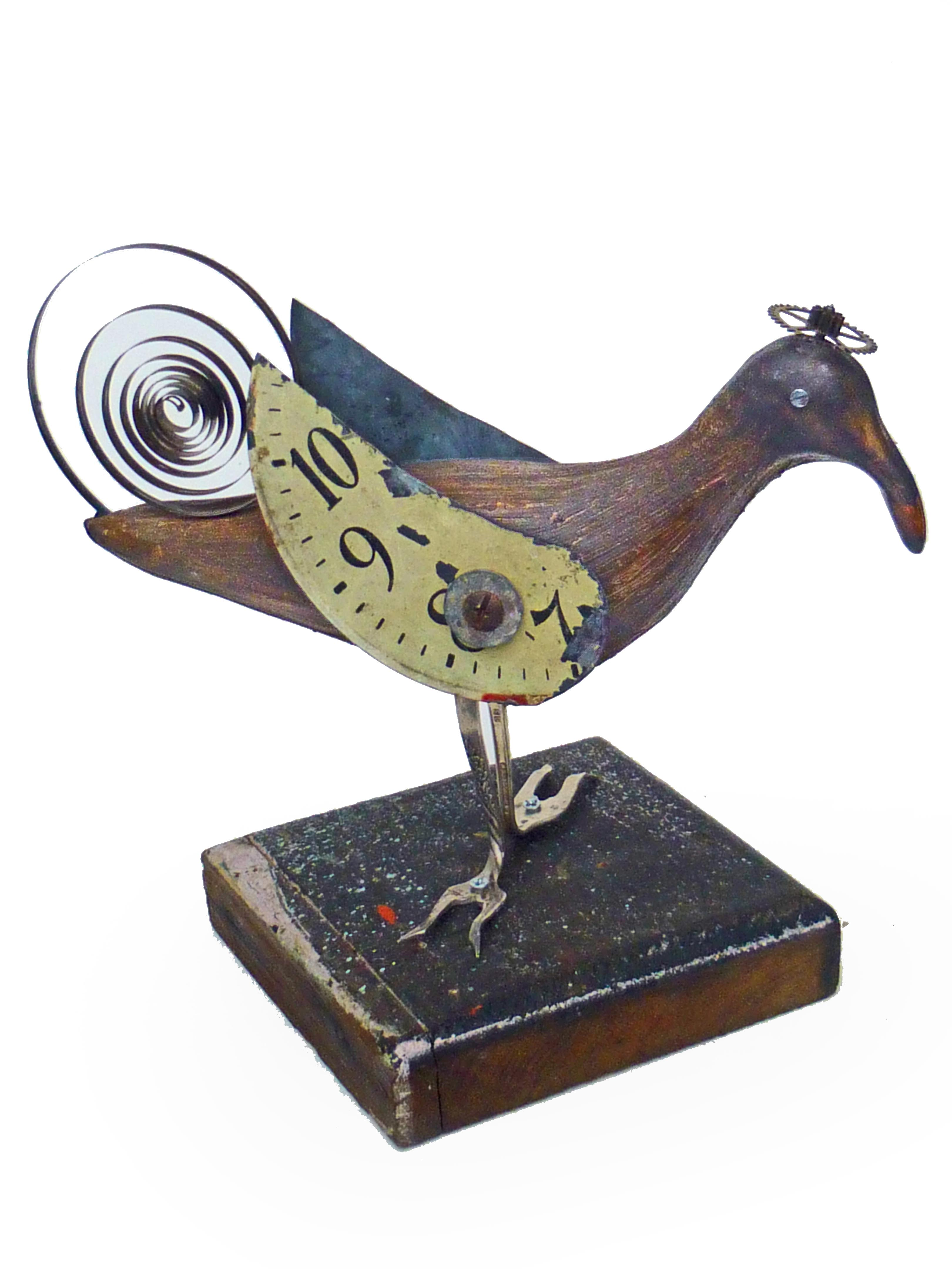 Like Clockwork Bird - Ceramic/Found Objects