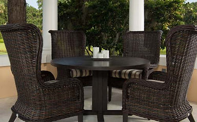 Charmant ... Bellevue Wingback Host Chairs With Portofino Dining Table ...