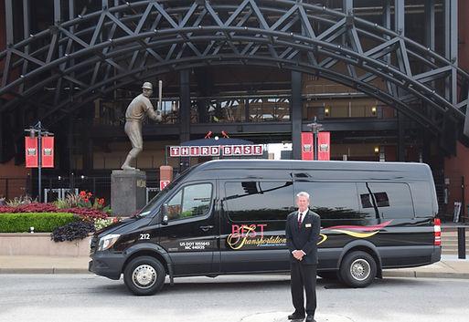 Transportation to Busch Stadium.JPG