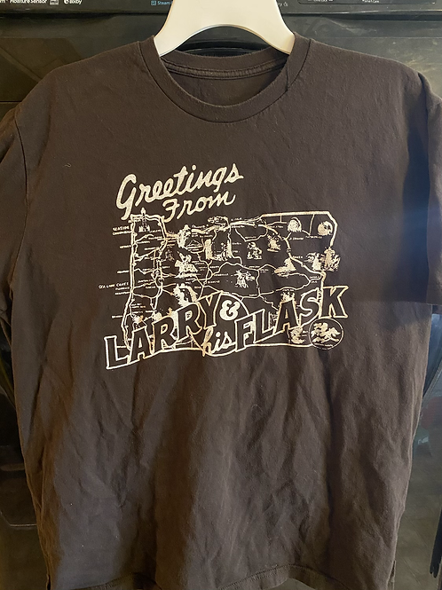 Larry and His Flask Greetings shirt