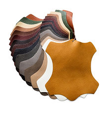 Samples of artificial leather for decora