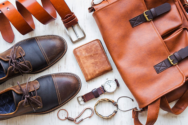 Men's casual outfits with leather access