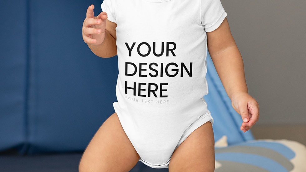 Unisex Infant Custom  Short-Sleeve Bodysuit
