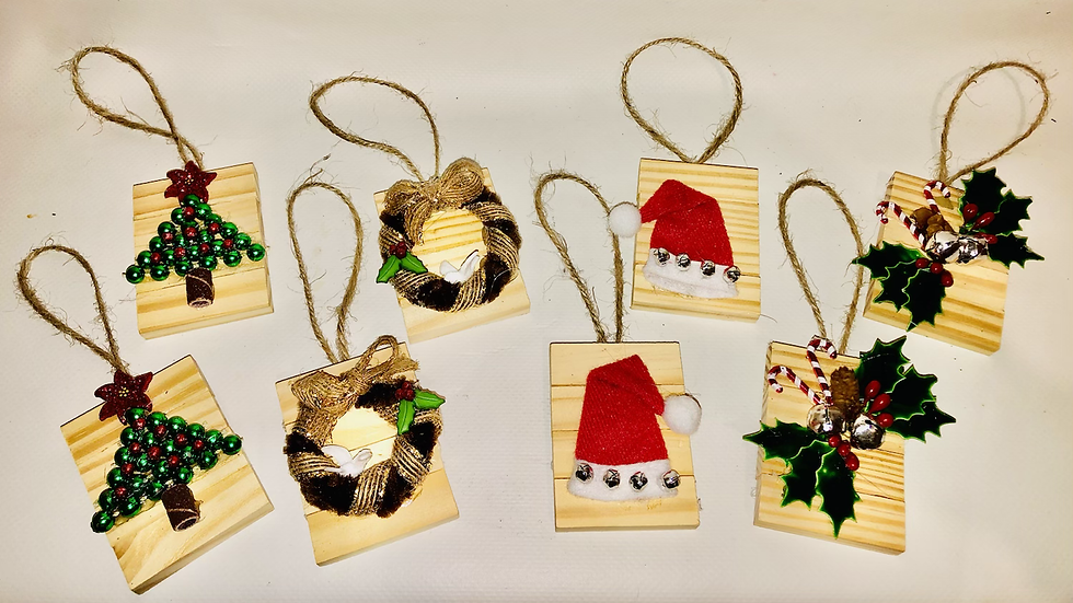Handcrafted Wooden Ornament Set