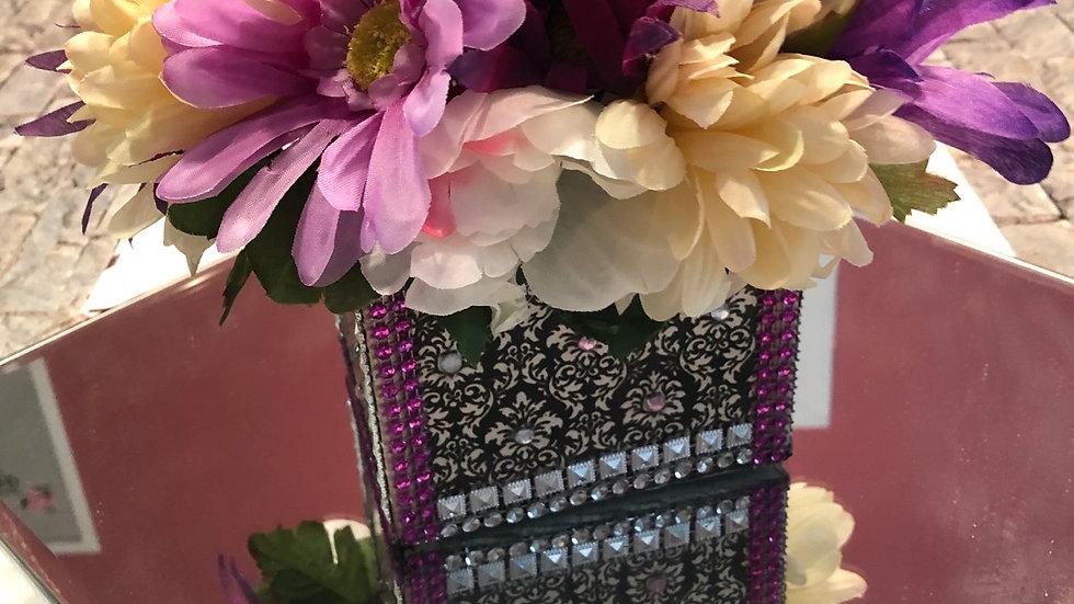 Artificial floral arrangement home accent
