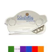 1268-M TRANSLUCENT CAR SHAPE LETTER OPENER W/ MICRO MAGNET