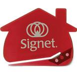 1256 TRANSLUCENT HOUSE SHAPE LETTER OPENER