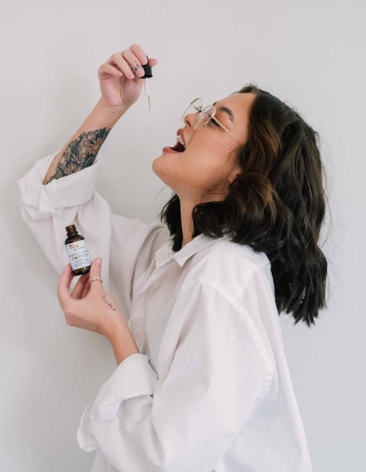 CBD hemp oral dropper anxiety stress relief