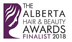 Finalist Logo _ Alberta Hair  Beauty Awa