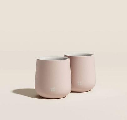 Set de deux tasses rose poudré