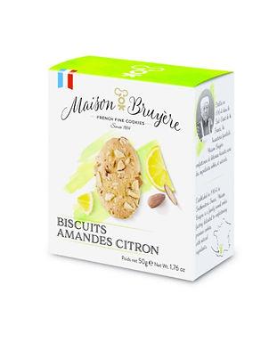 Biscuits amandes citron Maison Bruyère 50g