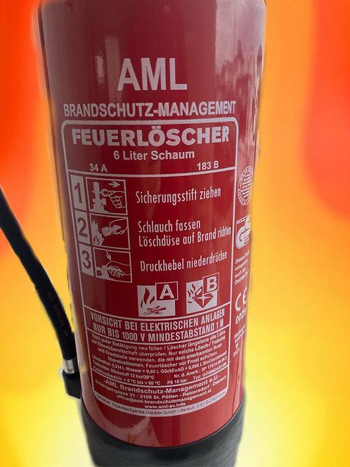 DER AML LÖSCHER 6 Liter Schaumlöscher inkl. Halterung