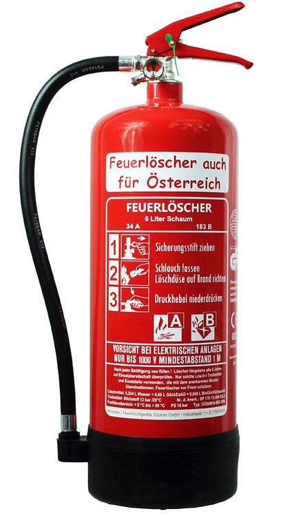 6 Liter Schaumlöscher inkl. Halterung