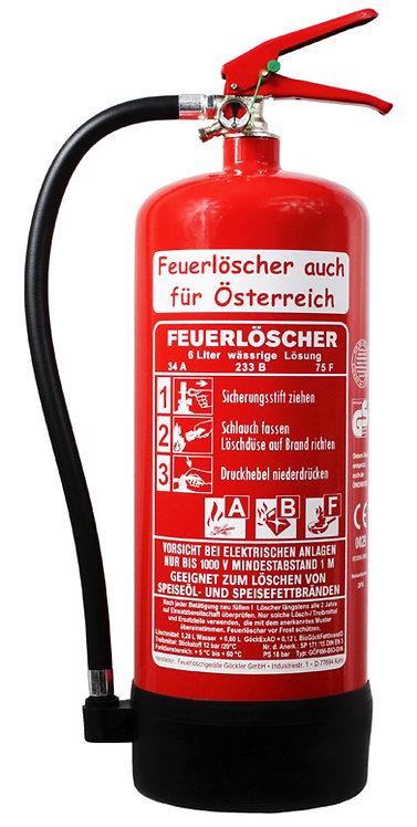 6 Liter Fettbrandlöscher inkl. Halterung