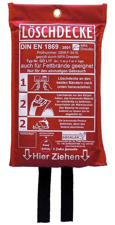 Löschdecke standard 1 x 1 Meter