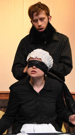 Brother Brightbee, this blindfold is as unbecoming as your beard!