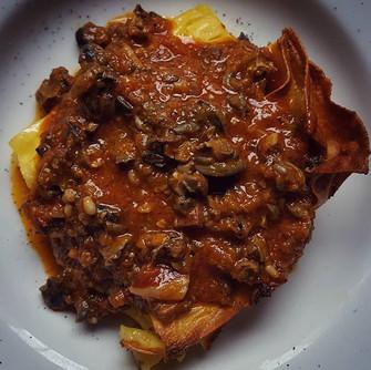 La #lasagna al #ragu' di #chiocciola. So