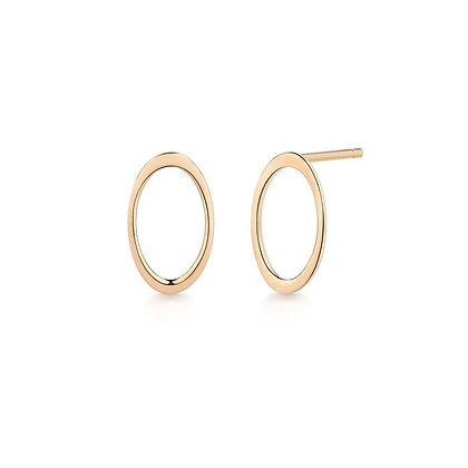 14KY IRENE | Open Oval Earrings