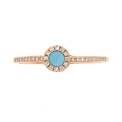 Bassali 14KY Amazonite & Diamond Ring