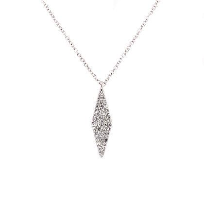 14KW Marquise-Shaped Diamond Necklace