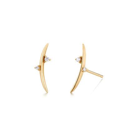 14KY DORA | Diamond Arc Earrings