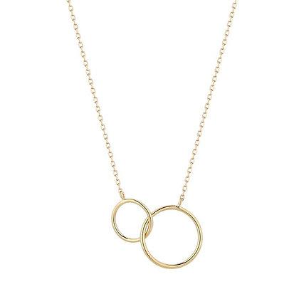 14KY HELEN | Interlinked Circles Necklace