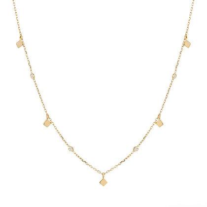 14KY SOMA | Dangling Topaz Necklace