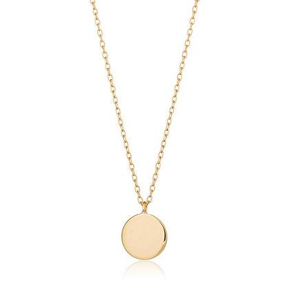 14KY DOT   Shiny Disc Necklace