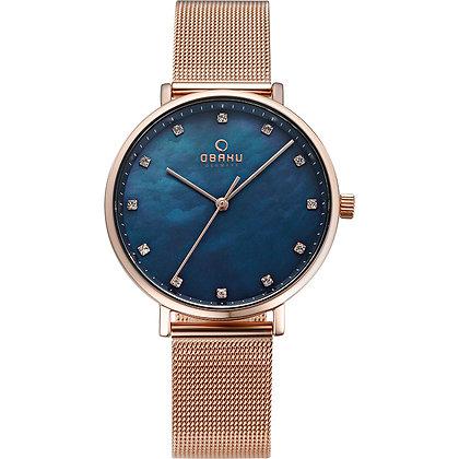 Vest - Azure - Analog Watch