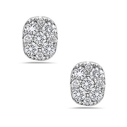 14KW Cluster Style Diamond Studs