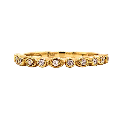 14KY 1/8 CTW Diamond Stackable Ring